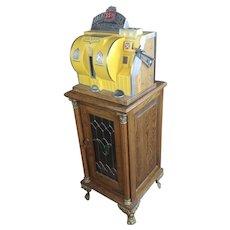5 Cent Antique Bally Reliance Dice Slot Machine w/ Keys -Rare