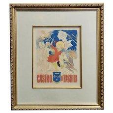 Casino d'Enghien -Original 19th century Poster -Belle Epoque