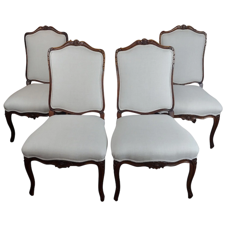 pretty nice 1a43e 6b7ea French Provincial Country Style oversized Dining Chairs-Set of 4