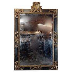 18th century Monumental Florentine Mirror -Gilt & ebonized Frame