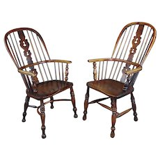 Windsor Chairs -19th century Beautiful  Bow backs-set of 2