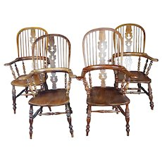 Windsor Chairs -19th century Beautiful  Bow backs-set of 4
