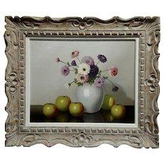 Nicolaas Bruynesteyn -Still Life with Apples-Realism-Oil painting c.1930s