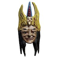 Mexican Mask -Antique painted Wood Carved