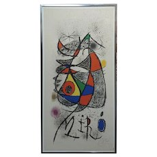 "Joan Miro' ""Galerie Maeght, Zürich 1972"" Original Lithograph-Pencil signed"