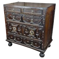 """17th century William & Mary """"Fabulous"""" Chest of Drawers-c.1680s"""