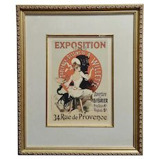 Jules Cheret -Exposition De Tableaux & Dessins De A Willette-French Poster-1900s