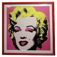 Andy Warhol Marilyn Monroe-beautiful Vintage Screenprint by Sunday B. Morning