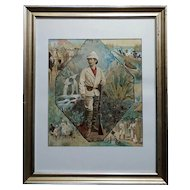 Stanley In Africa looking for Livingstone-Original Silkscreen lithograph