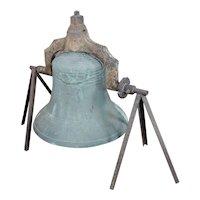Jersey City NJ 1886 Plantation Bronze Bell - F. A. William & Son Foundry