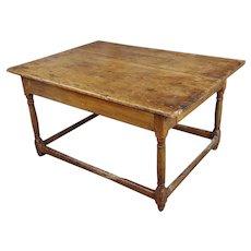 19th century English walnut Farm coffee table