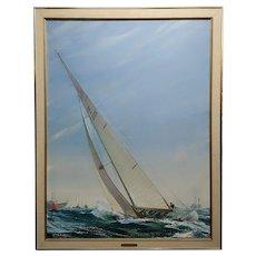 Kipp Soldwedel -Victory 1974 -Sailing Yacht - Original Oil painting