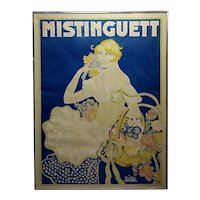 Mistinguett - Original 1928 French poster by Zig Louis Gaudin