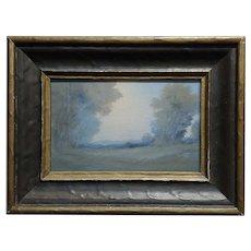 Edward Diers 1921 Rookwood Vellum Plaque Landscape w/Original Frame