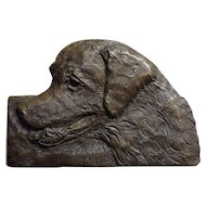 Golden Retriever Bronze wall plaque sculpture by Laurie Smith