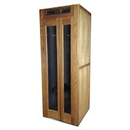 1950s Wooden Telephone Booth w/original working pay dial Phone