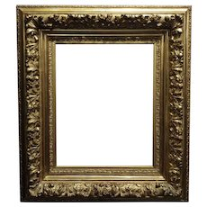 19th century -Highly Carved & Ornate gilt-wood Frame