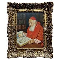 Casper Mine' -Portrait of a Cardinal  - Oil painting