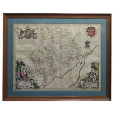 Johannes Blaeu-17th century Monmouthshire county Map 1663