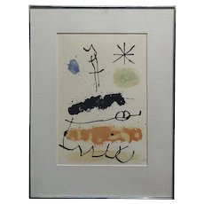 Joan M.  Abstract with Star - 43/100 Limited Edition Lithograph