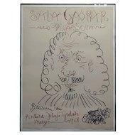 Pablo Picasso -Sala Gaspar 1968 Vintage Lithograph