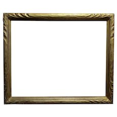 "Art Nouveau 24x30"" Gilt Wood Frame -c1900s"