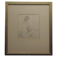 Pierre Auguste Renoir -Study of voluptuous Nude Female -Etching -Signed