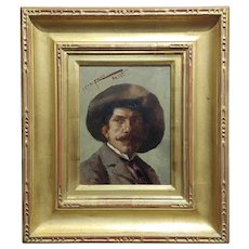 John Califano -Artist Self Portrait -California Impressionist -Oil painting
