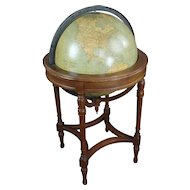"""19th century Style 18"""" Terrestrial Globe on Stand by Webber Costello-c1920s"""