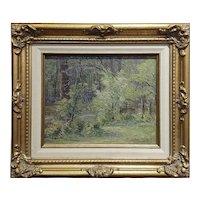 Ben Carre - Wooded Landscape at Fort Lee,VA -Oil painting c.1915