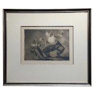 Francisco De Goya 'Bobalicón' Proverbio n.4 -Etching on paper