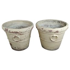 19th century Antique Large Terra-cotta Planters - A pair