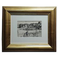 Black Lion Wharf -Etching on paper by James Whistler