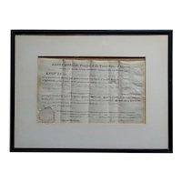 James Monroe -US President -1823 Missouri Land Grant-Signed