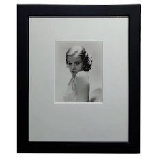 Jean Harlow 1932 Portrait - Silver Gelatin by George Hurrell -Signed