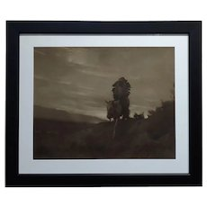 Karl Moon - Indian Chief on Horse - Original 1914 Photograph