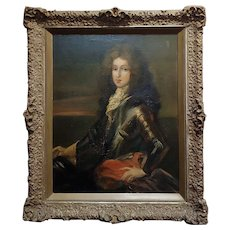 Portrait of a Nobleman in Armor -17th/18th century Oil painting