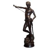 Antonin Mercie - David with the Head of Goliath -Bronze Sculpture