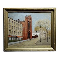 Louis Peyrat -Paris street scene - Expressionist Oil painting