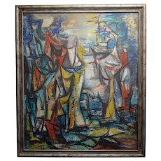 Boris Deutsch -1959 Abstract -Oil painting -Modernism