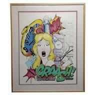 Crash John Matos -Dear Prudence 1989 -Serigraph-Pencil Signed