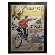 Gaston Fanty-Lescure -Rare 1896 French Bicycle Poster