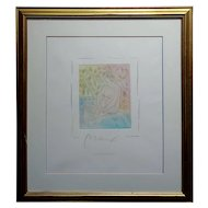 Peter Max - Homage to Pablo Picasso -Vintage Etching