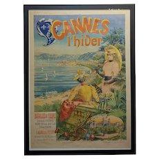 Cannes L'Hiver, Casino des Fleurs -Original 1892 French Poster