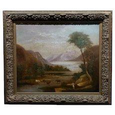 Thomas Doughty -Pastoral Landscape -Oil panting c1820s