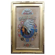 Sperry Mills Native American -19th century Rare Advertising painting-c1890s