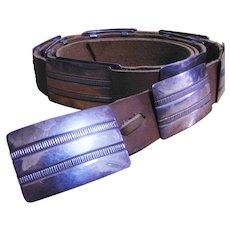 Custom Designer R Lee Spectacular Fine Sterling Silver Hand Made Vintage Concho Belt American Indian circa 1960