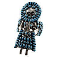 Signed Native American Turquoise Kachina Cuff Bangle Bracelet by Navajo Benson Yazzie Old Pawn Turquoise Jewelry American Indian Jewelry Unisex Statement
