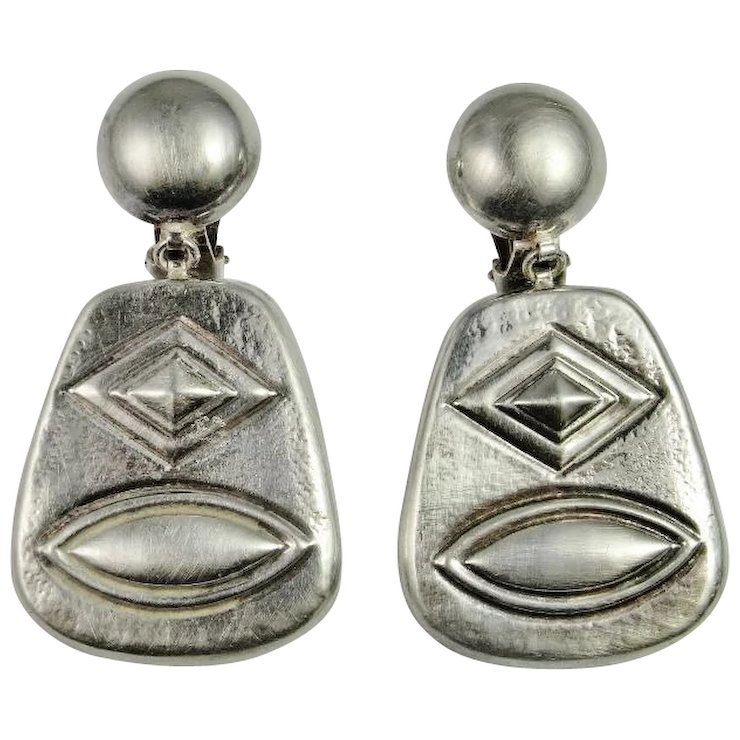 duclos french taxco products jean recollectvintage silver designer modernist earrings frederic
