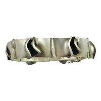 Minimalist Bracelet Vintage Sterling Silver Bracelet Silver Bangle Modernist Bracelet 1970s Jewelry Statement Bracelet Chunky Bracelet Retro